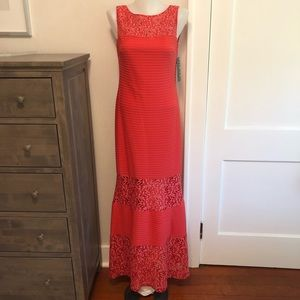 Mermaid Style Coral Evening Gown